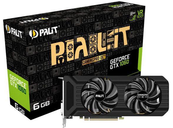 ドスパラ Palit製オリジナルファン搭載NVIDIA GeForce GTX 1060グラボにGDDR5X採用モデル