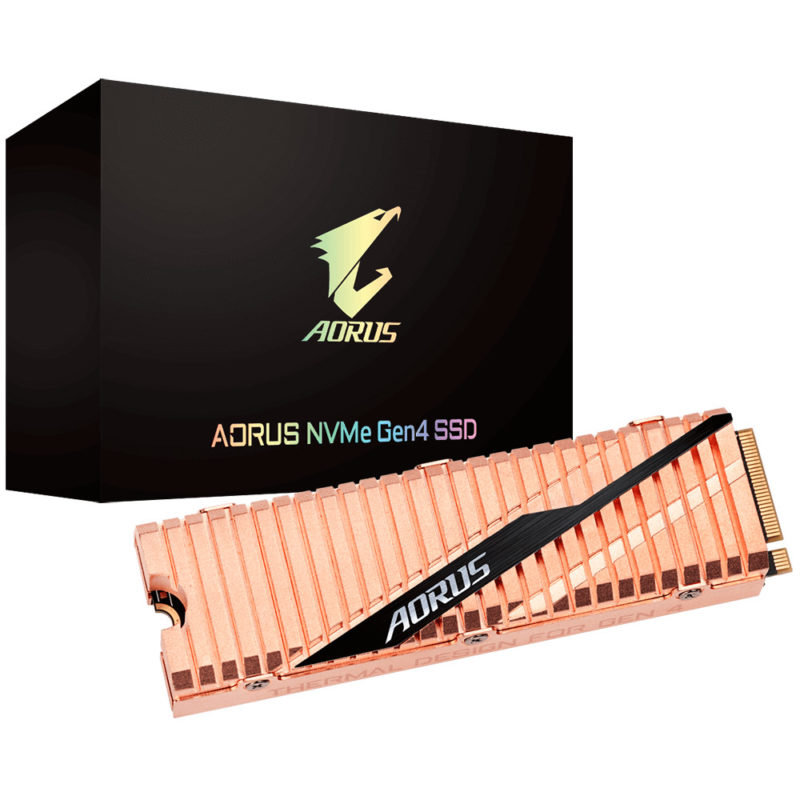 Gigabyte AORUS NVMe Gen 4 高速SSDが発表