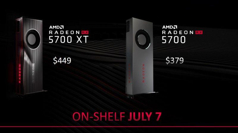 AMD Radeon RX 5700 series 販売開始