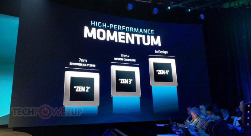 AMD Zen3設計完了 Zen4を2021年向け設計中