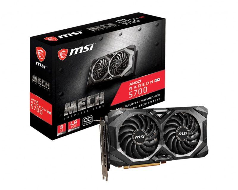 MSI Radeon RX 5700 MECH OC 8月30日発売