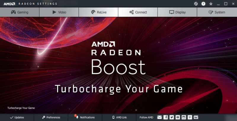 AMD Radeon BoostがAMD Adrenalin 2020 Editionで登場