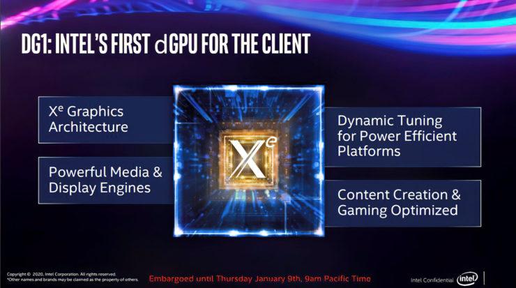 IntelのDG1グラフィックカードを使用した公式リリース