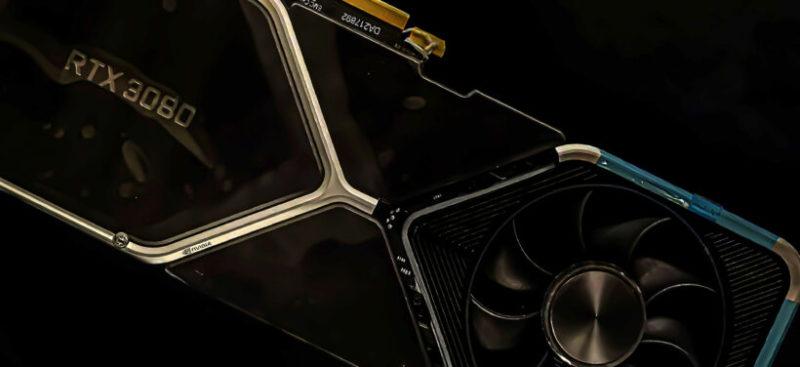 NVIDIAのGeForce RTX 3080フラッグシップGPUの画像