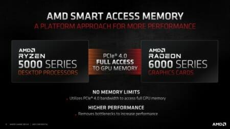 Intel Z490マザーボードでAMDスマートアクセスメモリを有効にし、Radeon RX 6800XTでパフォーマンスの向上