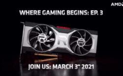 AMDは3月3日にRTX 3060Tiに対抗するRadeonRX6700XT Navi22 RDNA2グラフィックスカードを発表