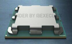 AMD Zen 4 Raphael Ryzen デスクトップ AM5 CPU のモックアップ写真、Chonky IHS および正方形の LGA 1718