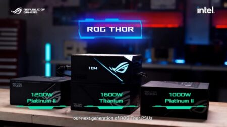 ASUSが、PCIe Gen5.0対応電源コネクタを備えたROG THOR 1600W Titanium など発表